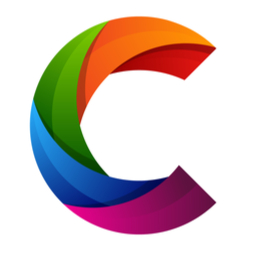 colorful letter C