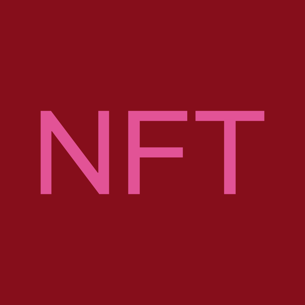 pink letters NFT in magenta square
